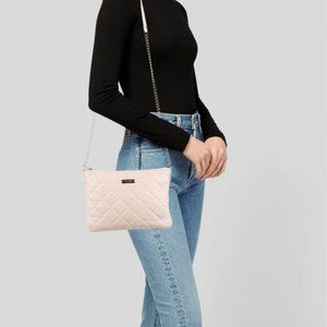 Kate Spade New York Emerson Place Harbor Leather Quilted Black Cross Body Bag